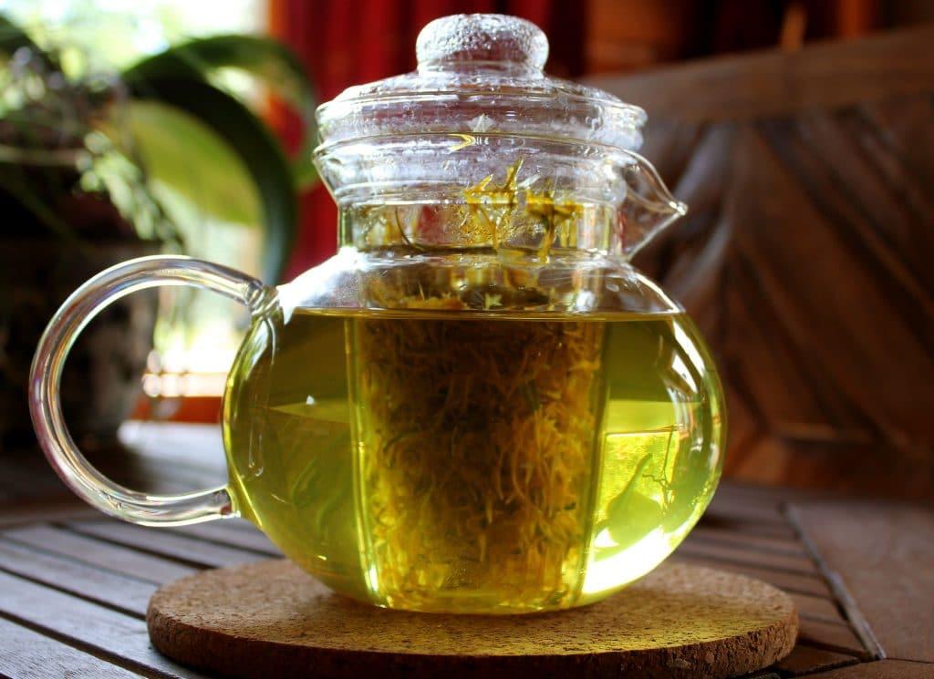 Настой из чая и трав